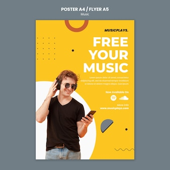 Music for everyone print template