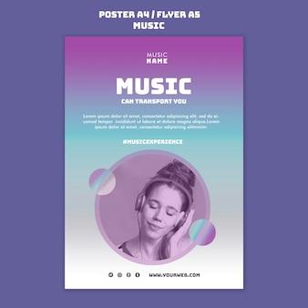 Modello di poster di esperienza musicale