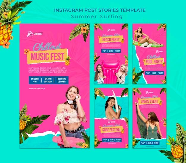 Music fest instagram stories template