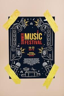 Music festival poster mockup