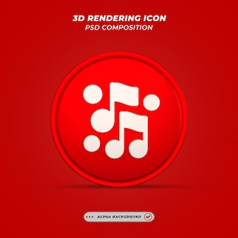Значок музыки в 3d-рендеринге
