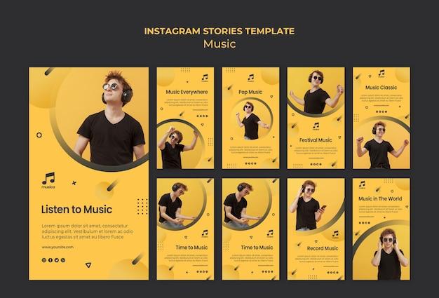 Modello di storie di instagram musicali