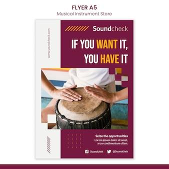 Music instrument concept flyer template