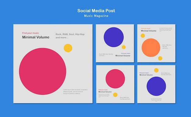 Music magazine social media post