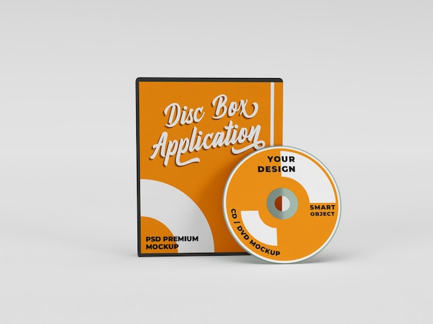 Music and movie cd dvd disc cover package realistic mockup