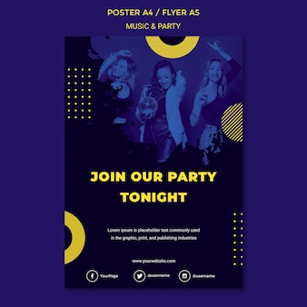 Music & party concept party template