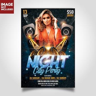 Music party flyer печатный шаблон