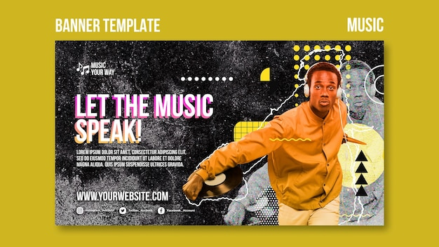Music performance banner template