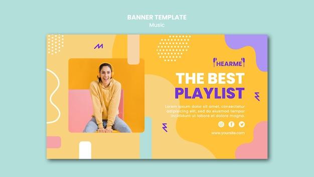 Шаблон баннера музыкальной платформы