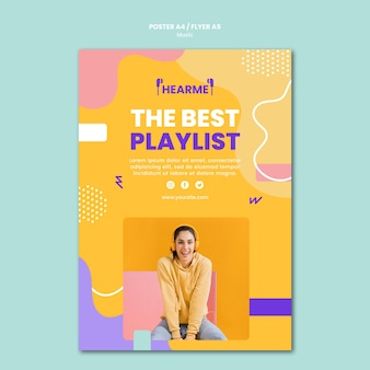 Music platform flyer template