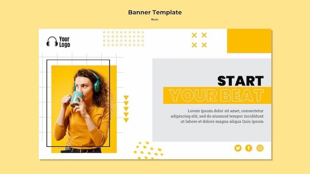 Music platform template banner
