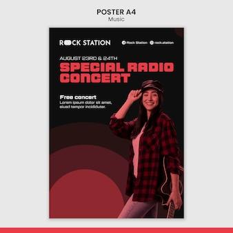 Modello di progettazione di poster musicali