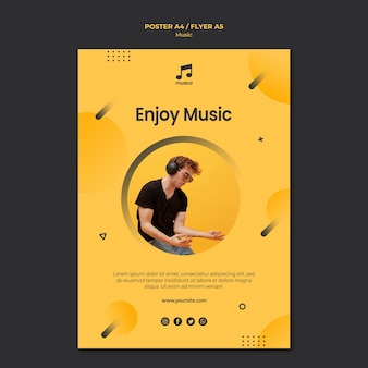 Music poster template concept