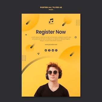 Disegno del modello di poster di musica