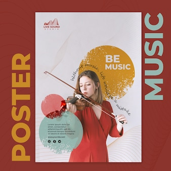 Music poster template with photo