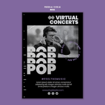 Music print template with photo