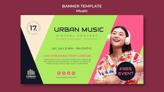 Music show banner design template
