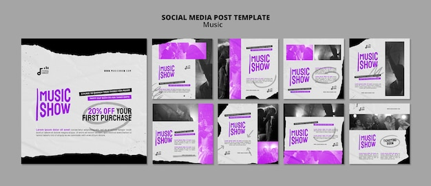 Музыкальное шоу insta шаблон оформления публикации в социальных сетях