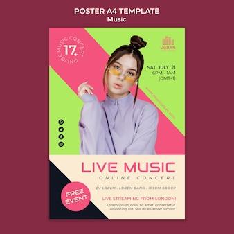 음악 쇼 포스터 디자인 서식 파일