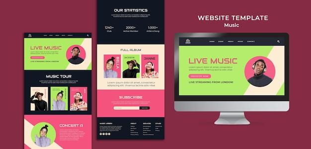 Шаблон дизайна веб-сайта музыкального шоу