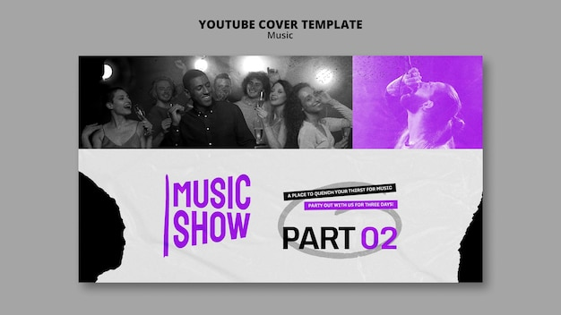 Music show youtube cover design template