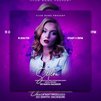 Music social media post and instagram banner promotion template