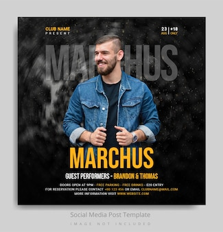Music social media post template