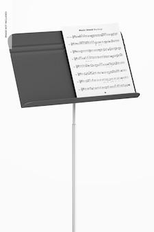 Music stand mockup, close up