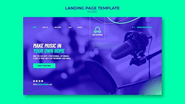 Music studio landing page template