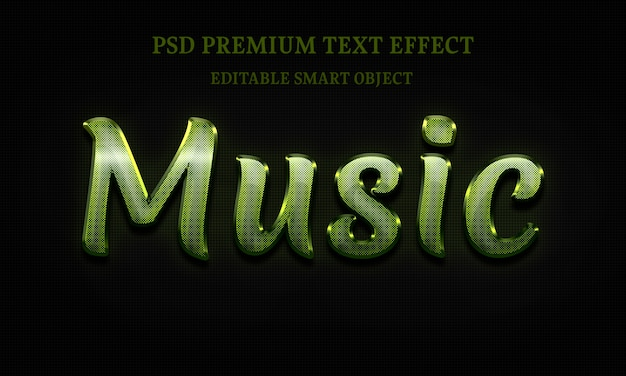 Music text effectportrait of beautiful woman