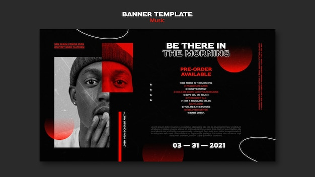 Music tickets sale banner template Free Psd