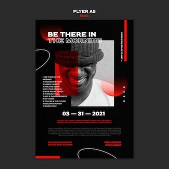 전단지 템플릿-음악 티켓 판매