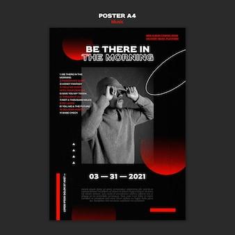 Шаблон плаката продажи музыкальных билетов