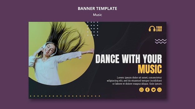 Musical event banner template