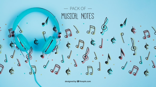 Concetto di note musicali per artisti
