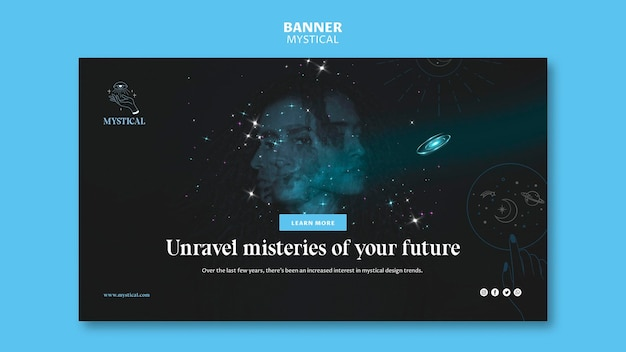 Mystical concept banner template