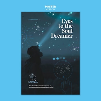 Mystical concept poster template