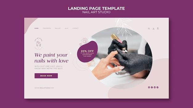 Nail art studio landing page