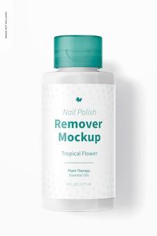 Nail polish remover mockup