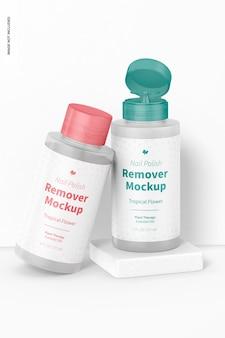 Nail polish removers mockup
