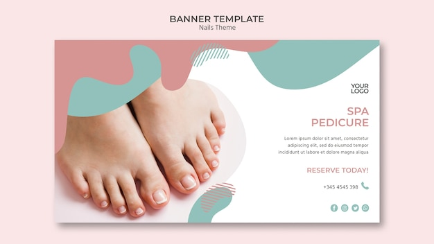 Nail studio banner template theme