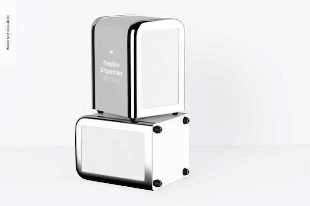 Napkin dispenser mockup, stacked