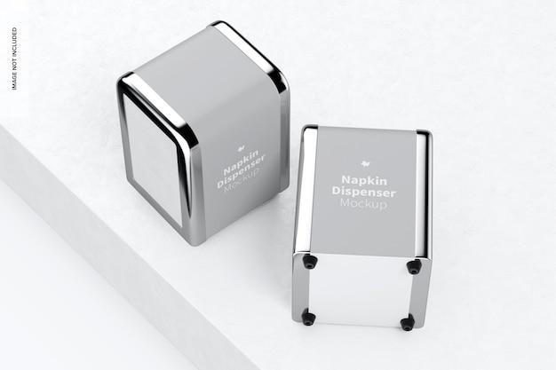 Napkin dispenser mockup, top view