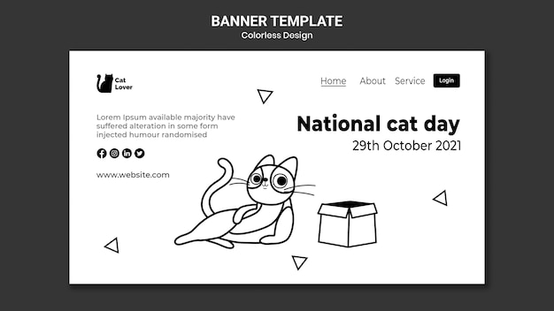 National cat day banner