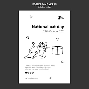 National cat day flyer