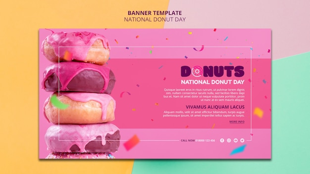 National donut day banner template