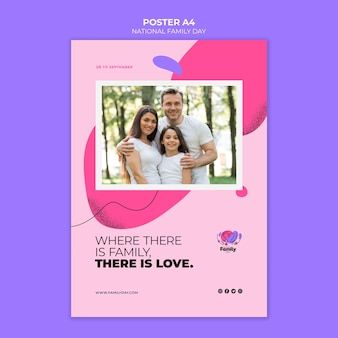 전국 가족의 날 포스터 테마