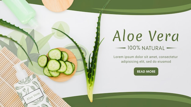 Natural aloe vera with cucumbers