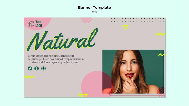 Natural beauty banner web template