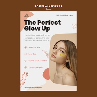 Natural and beauty concept flyer template